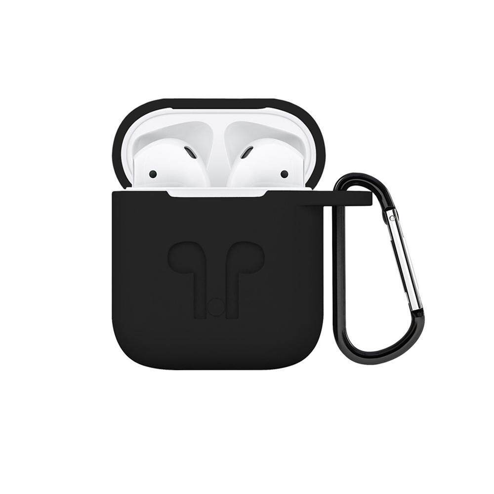 ounjea Soft Silicone Cover For Apple Airpods Waterproof Shockproof Protector Case Sleeve Pouch For AirPods Earphone