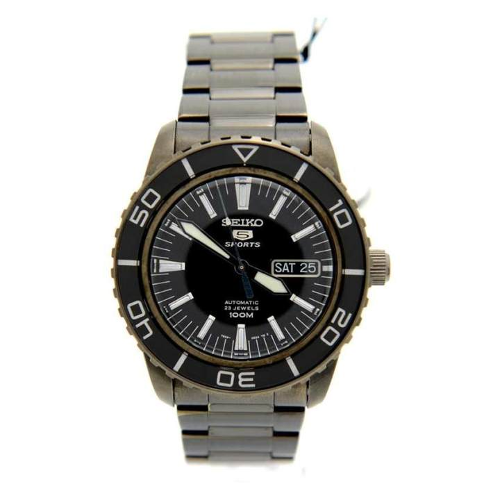 Seiko 5 SNZH59K1 Automatic Stainless Steel Black Dial Analog Men's Sport Watch