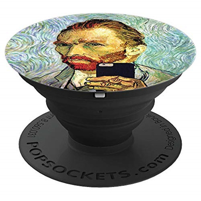 c068ffca108 Inside Out Designs Vincent Van Gogh Funny Cellphone Selfie Self Portrait -  PopSockets Grip and Stand