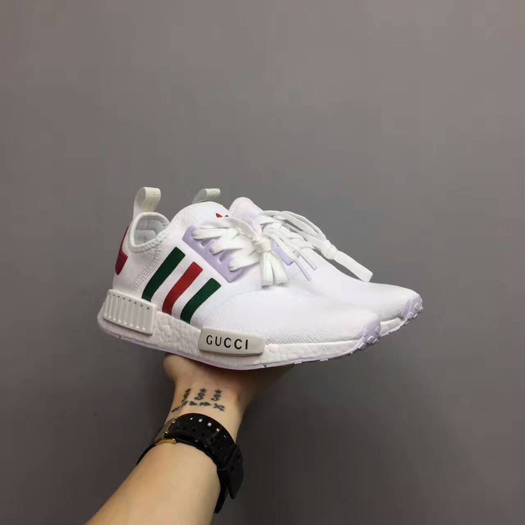 Gucci Adidas NMD Joint White Gucci Running Shoes Sports Shoe