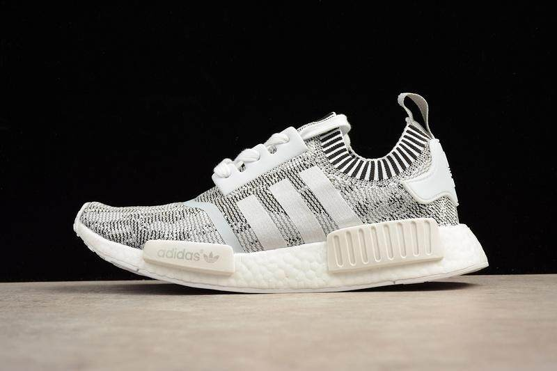 b5c922e8d Adidas NMD R1 Boost Men s Fashion Casual Sneakers Lightweight Sports  Running Shoe (White Grey