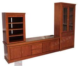 【尚品傢俱】401-21 普派 實木高低櫃/客廳收納櫃組/居家展示櫃組/家庭電器櫃組