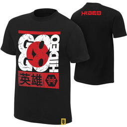 "SUPER619 WWE Hideo Itami ""Go Go Hideo"" Authentic T-Shirt T恤"