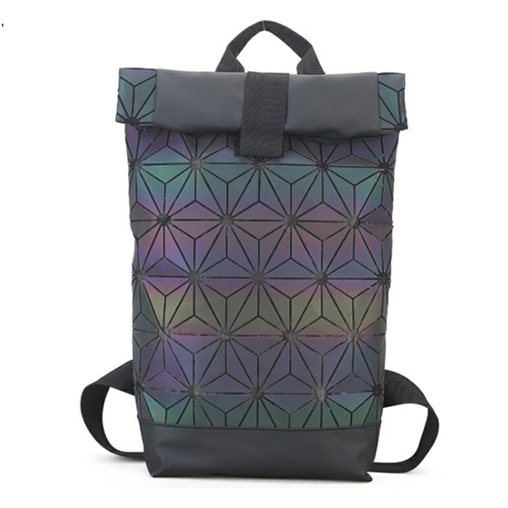 44c2434f94a3 Black Luminous Mesh Adidas x Issey Miyake BAOBAO Roll Top Backpack   Diaper  Bag