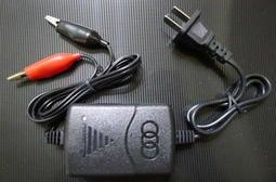 通用型低壓啟動12V機車電瓶充電器/1.25A機車電池充電器 智能充電器