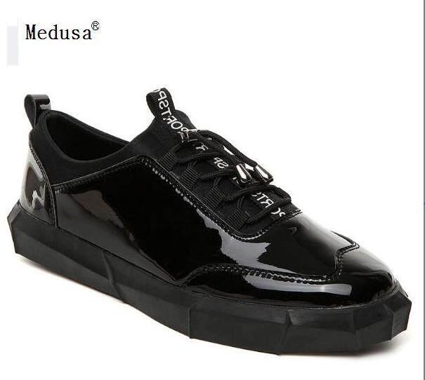 GYPSY trendy patent leather men s shoes, European Medusa tide shoes    British bright face shoes 3077856f7c2