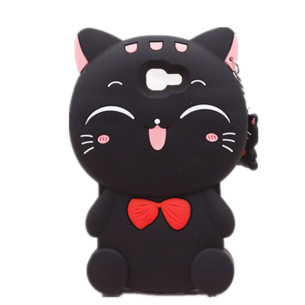 Phone Case For Samsung Galaxy J7 Prime,Lucky Cat Fortune Cat Black White