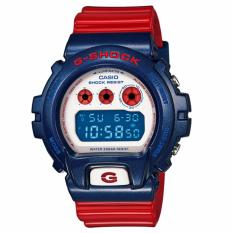 Casio G-Shock Men's Watch Resin Band Red Strap DW-6900AC-2 Blue