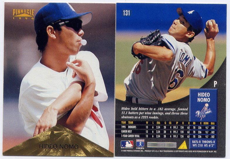 野茂英雄 Hideo Nomo 1996 Pinnacle #131